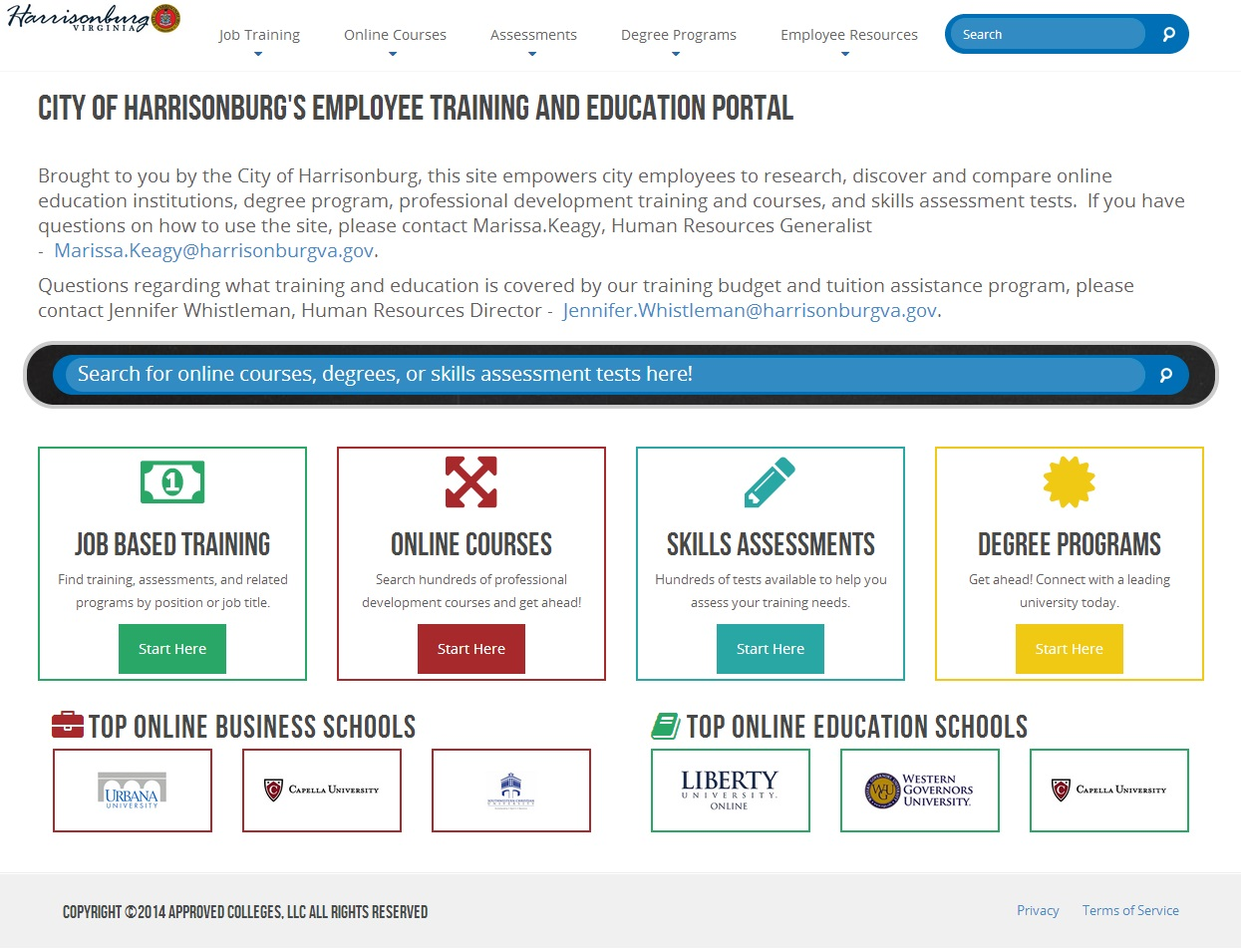 Information educational portals: a selection of sites